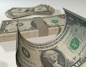 3D Dollar-Bill-Money