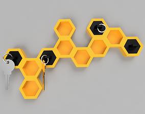 3D printable model Honeycomb Keyholder