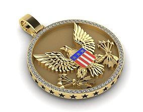 american eagle pendant 3D printable model