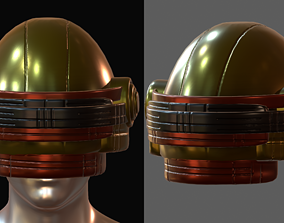 low-poly Gas mask helmet 3