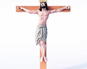 3D asset Jesus Low Poly