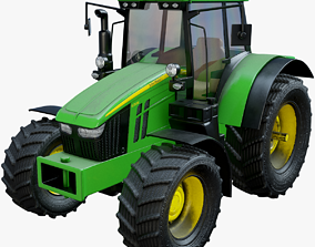 3D asset Modern Heavy Agriculture Tractor