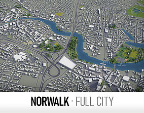 Norwalk - city and surroundings 3D asset