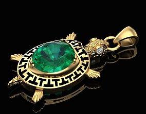 3D printable model Emerald tortoise