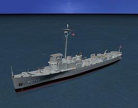 USS PC-744 Subchaser 3D model
