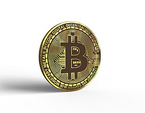 Bitcoin 3D print model gold