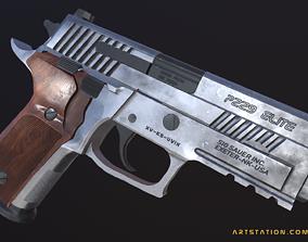 3D model Sig Sauer P229 ASE 9mm Pistol