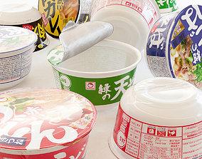 3D asset Instant cup noodle - Udon Soba