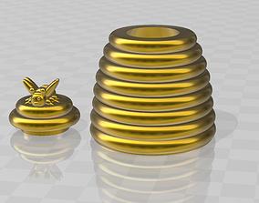 3D print model mini beehive box pot