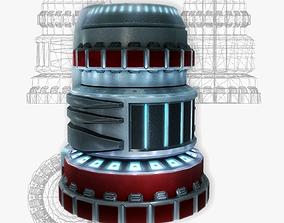 3D model Force field generator 06 sci-fi