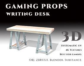 3D model Gaming Props - Writing Desk
