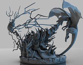 3D print model Pokemon Charizard Vs Pikachu Fire And 1
