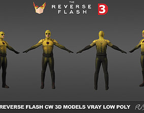 realtime Reverse Flash CW 3D models low poly
