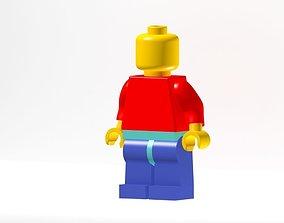 brick lego man 3D model
