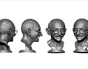 3D printable model Mahatma Gandhi Bust