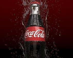 Coke bottle splash 3D
