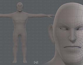 3D model Base mesh man character V12
