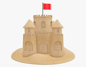3D model Sand castle 03