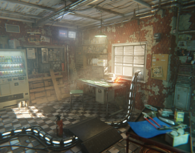 Post Apocalyptic Office Asset Pack 3D model
