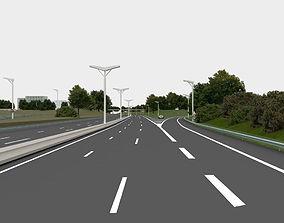 compass gps highway navigation 3D road