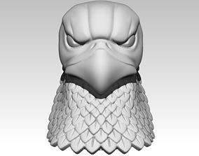 3D print model Eagle Bust Angry Hawk Statue Head