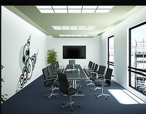 furniture Meeting Room 02 3D model