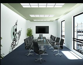 furniture Meeting Room 02 3D model