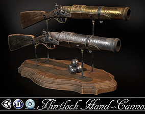 Flintlock Hand-Cannon - two skins 3D asset game-ready