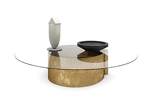 FLOU B-Wave Coffee Table with decoration 3D