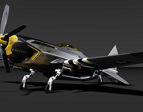 P-51 advanced mustang 3D asset low-poly
