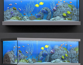 3D rigged aquarium room