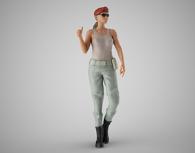 3D printable model Soldier Girl