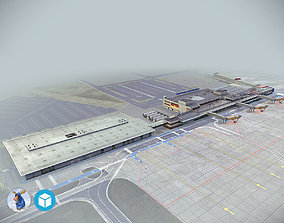 3D model realtime Airport Terminal Schonefeld EDDB
