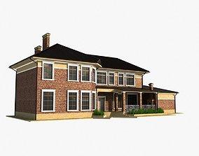 3D model Two story residental house