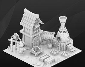 Fantasy Game Blacksmith 3D
