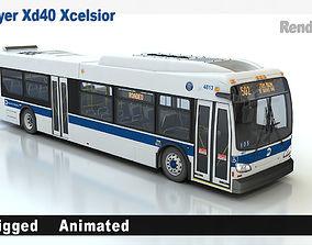 New Flyer Xd40 Xcelsior 3D
