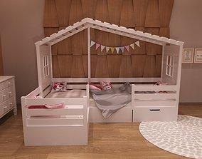 3D Baby bed 3