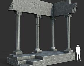 3D model Low poly Ancient Roman Ruin Construction 01 - 1