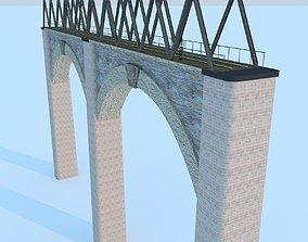 3D model Train Bridge Max 2011
