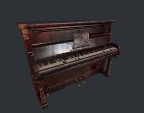 Old Vintage Piano 3D model