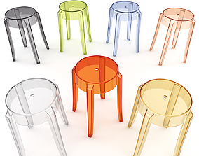 Charles Ghost Stool 4897 3D