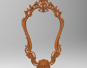 Carved CNC 3D print model of mirror frame carved