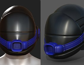 Gas mask helmet scifi fantasy armor 3D model 2