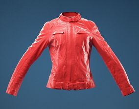 3D model Leather Jacket Fully Closed