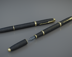 Fountain pen 3D model game-ready
