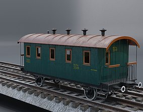 3D asset Passanger vagon 4 class