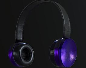 Headphone 3D asset game-ready PBR