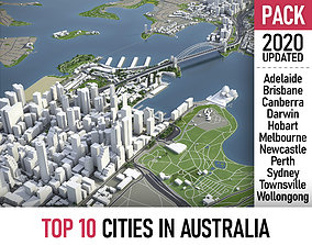3D model Top 10 Cities in Australia