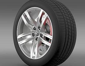3D Volkswagen Golf TDI wheel