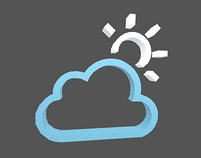 3D asset Weather Symbol v7 008